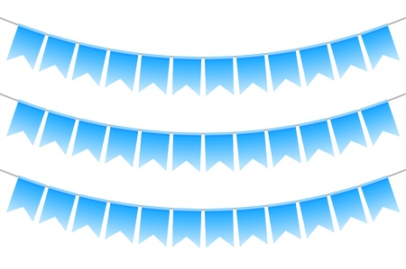 Vector illustration of blue bunting Vector