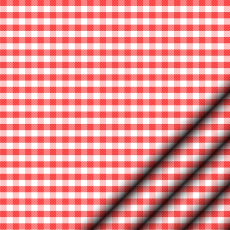 Vector illustration of red tablecloth Vector