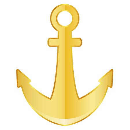 marine industry: Vector illustration of anchor Illustration