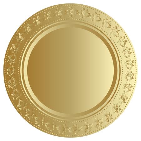 Vector illustration of gold tray Stock Vector - 13443343