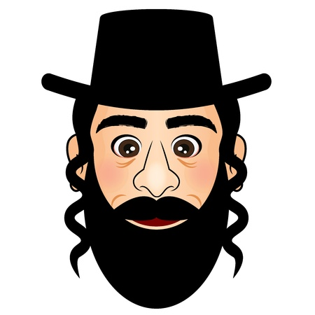 jews: Vector illustration of orthodox
