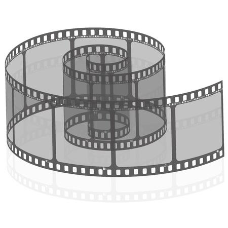 bobina: Ilustración vectorial de la tira de película