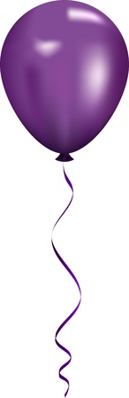 Vector illustration of purple balloon Illustration