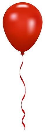 casamento: Vector illustration of red balloon with ribbon