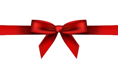 Vector illustration of red bow Vector