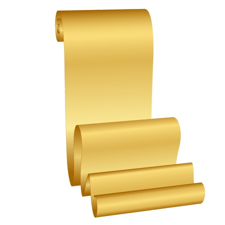 Vector illustration of gold scroll Vector