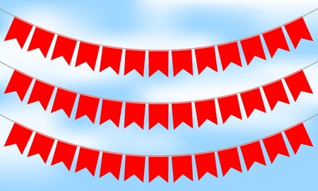 Vector illustration of red bunting Vector