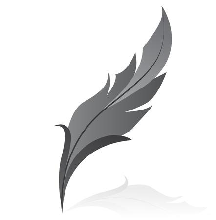 tatouage oiseau: illustration de plume grise