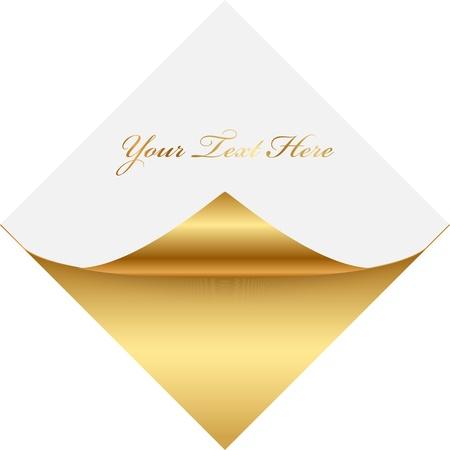 L'or et papier à lettres blanc