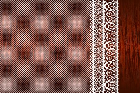 manteles: Vektor ilustraci�n de la servilleta de encaje sobre la mesa