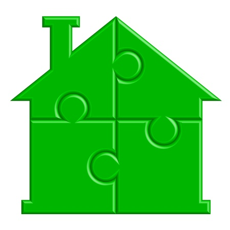 illustration of house from puzzle Vector