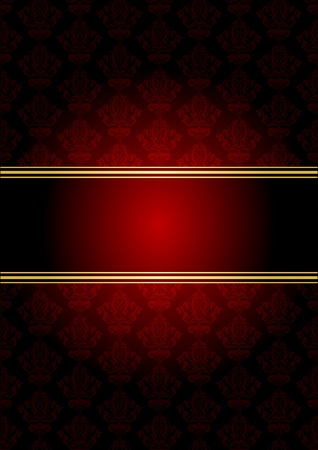 red rug: gold wallpaper