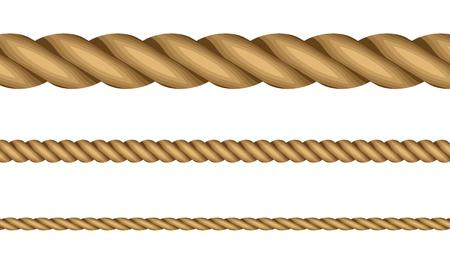 laundry line: ilustraci�n de cuerdas Vectores