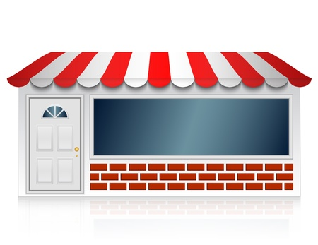 illustration of shop Vector