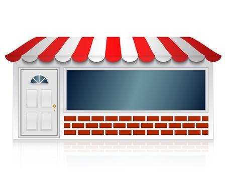 tiendas de comida: ilustraci�n de la tienda Vectores