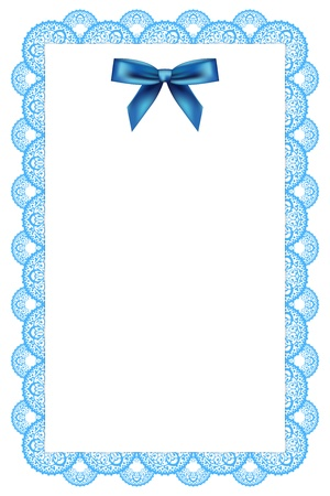 white background with lace and ribbon Vector