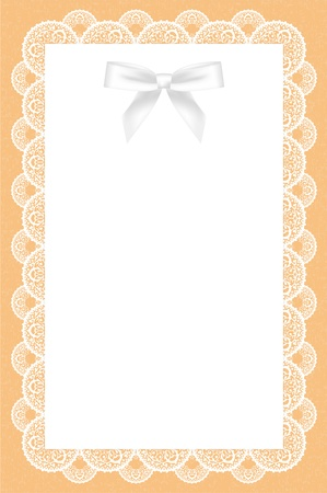 doily: lace background with white bow