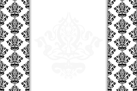 Vector black & white vintage background Stock Vector - 13620677