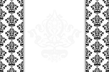 tapet: Vector black & white vintage background