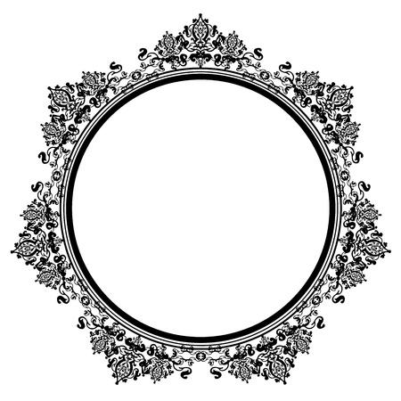 Vector illustration of black vintage frame Vector
