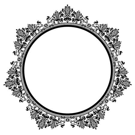 rococo: Vector illustration of black vintage frame Illustration