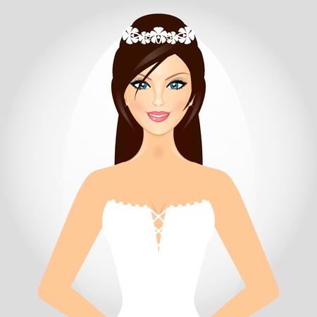 Vector illustration of bride Vector