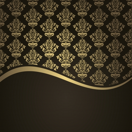 Vector brown and gold background Vector