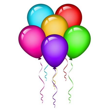 party balloons: Vector illustration of colorful balloons