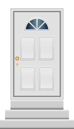 door bell: Vector illustration of door