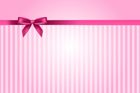 girls with bows: Vector pink background with bow
