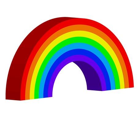 3d rainbow: Vector illustration of rainbow