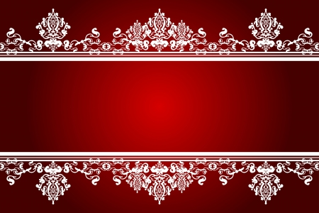 tapet: Vector red and white background