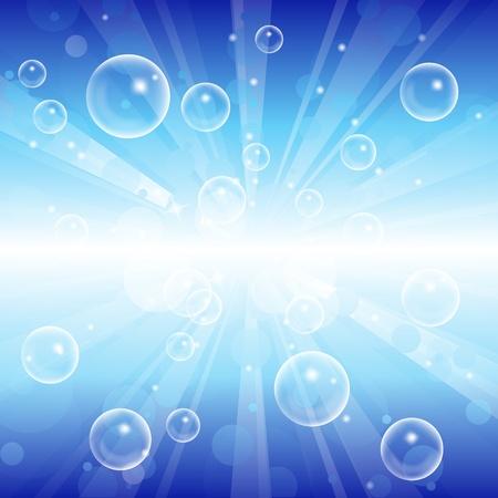 jabon liquido: Vector abstracto azul de fondo