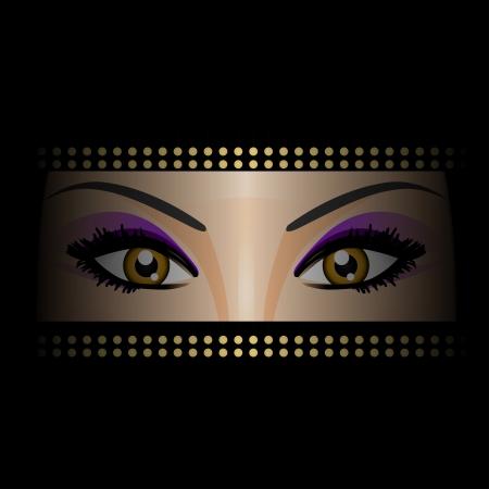 burka: Illustrazione vettoriale di occhi