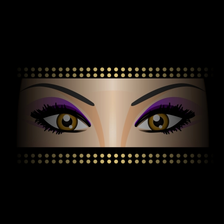 pakistani: Vector illustration of eyes Illustration