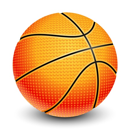 illustration of basketball Vector