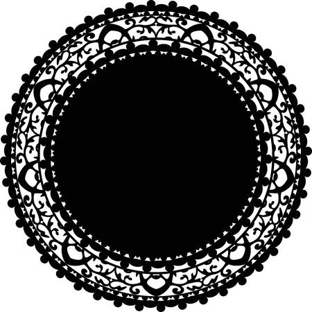 doilies: Ilustraci�n vectorial de la servilleta Vectores