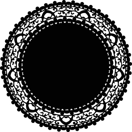 round frame: Vector illustration of napkin