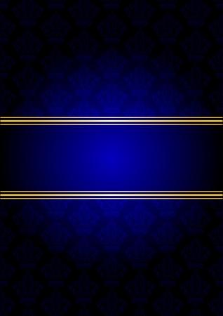 tapet: Vector blue and gold background Illustration