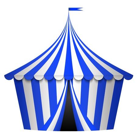 палатка: Векторные иллюстрации голубой цирк-шапито