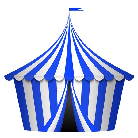 marquee tent: Vector illustration of blue circus tent