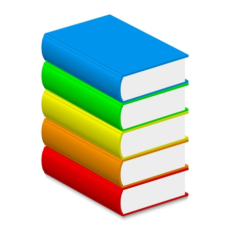 Vector illustration of colorful books Stock Vector - 13715774