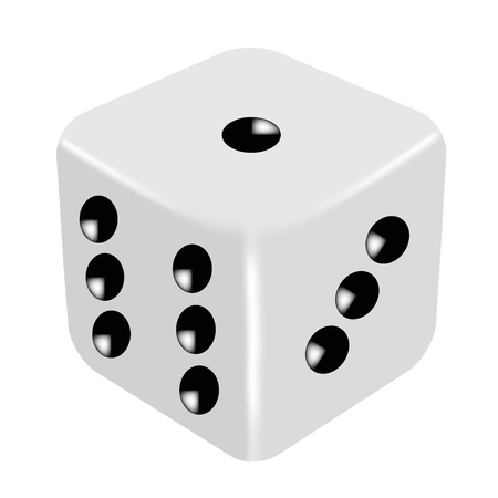 tossing: Vector illustration of dice