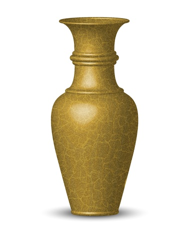 Vector illustration of golden vase Vector