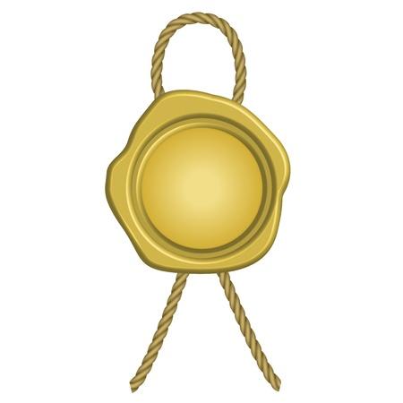 signatory: illustration of golden wax seal