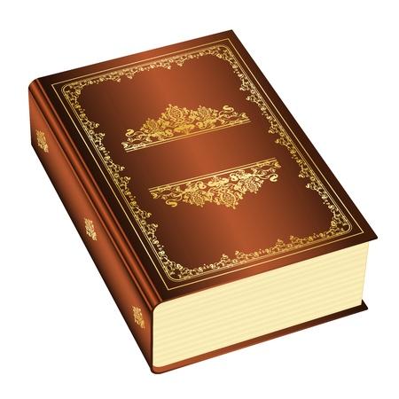 copertina libro antico: Illustrazione vettoriale di libro con spazio per il testo