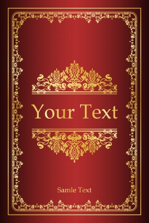 author: Book cover - vintage background