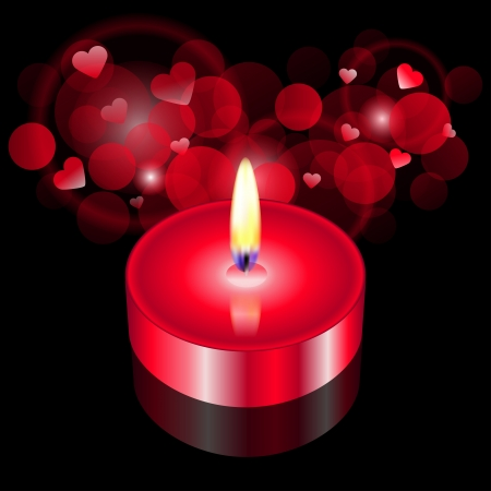 Vector illustration of red candle Stock Vector - 13715778