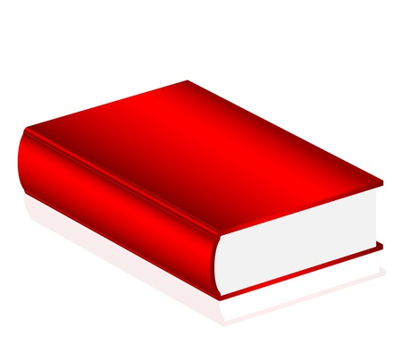 Vector illustration of red book Vector