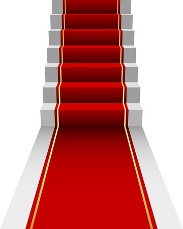 red rug: illustration of red Carpet